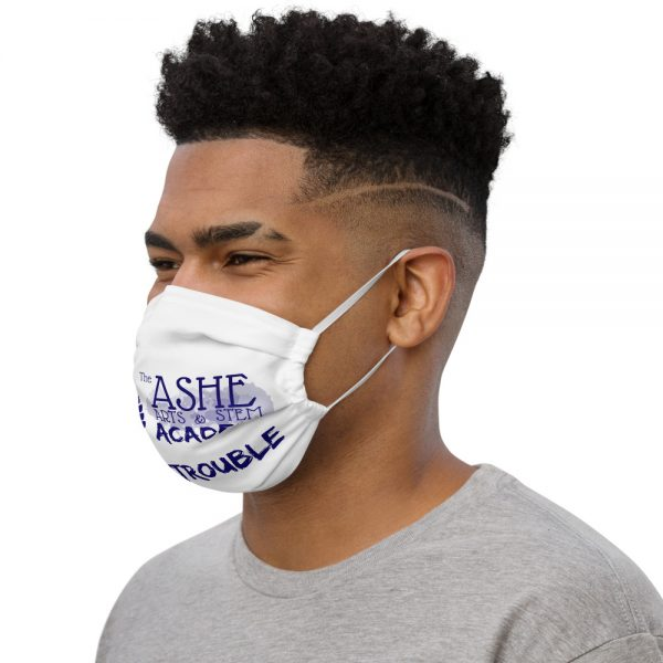 Man wearing White Face Mask Left side profile The Ashe Academy Store