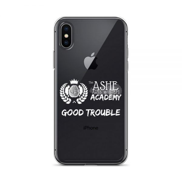 iPhone X/XS White Good Trouble Clear Phone Case on Black iPhone X/XS The Ashe Academy Store