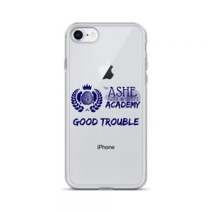 iPhone 7/8 Blue Good Trouble Clear Phone Case on Silver iPhone 7/8 The Ashe Academy Store
