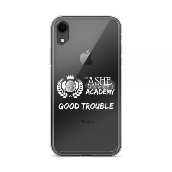 iPhone XR White Good Trouble Clear Phone Case on Black iPhone XR The Ashe Academy Store