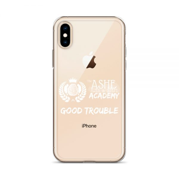 iPhone X/XS White Good Trouble Clear Phone Case on Rose Gold iPhone X/XS The Ashe Academy Store