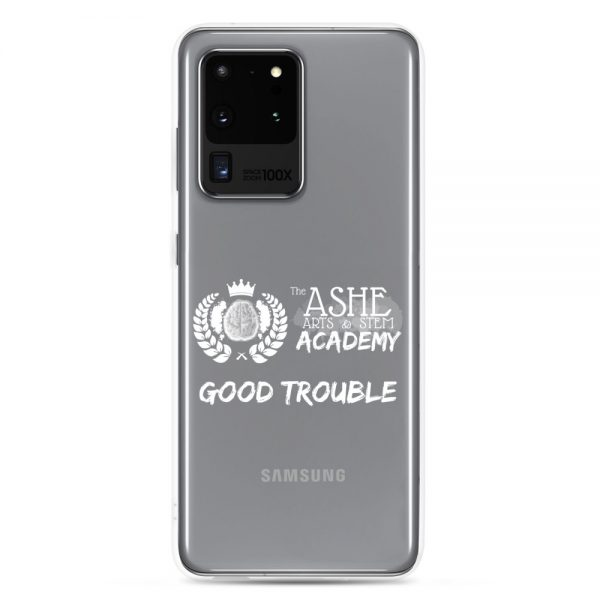Samsung Galaxy S20 Ultra White Good Trouble Clear Phone Case on S20 Ultra The Ashe Academy Store