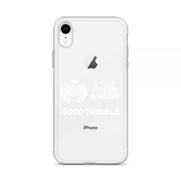 iPhone X/R White Good Trouble Clear Phone Case on Silver iPhone XR The Ashe Academy Store
