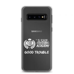 Samsung Galaxy S10 White Good Trouble Clear Phone Case on S10 The Ashe Academy Store