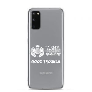 Samsung Galaxy S20 White Good Trouble Clear Phone Case on S20 The Ashe Academy Store