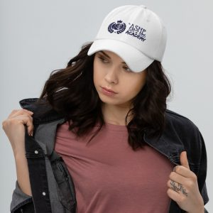 Woman wearing White Ballcap facing right The Ashe Academy Store