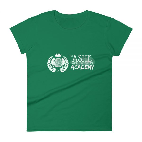 Women's Kelly Green front view short sleeve Social Distancing T-Shirt The Ashe Academy Store