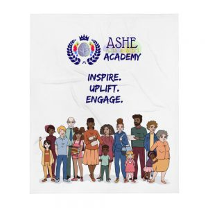 Inspire Uplift Engage Throw Blanket The Ashe Academy Store