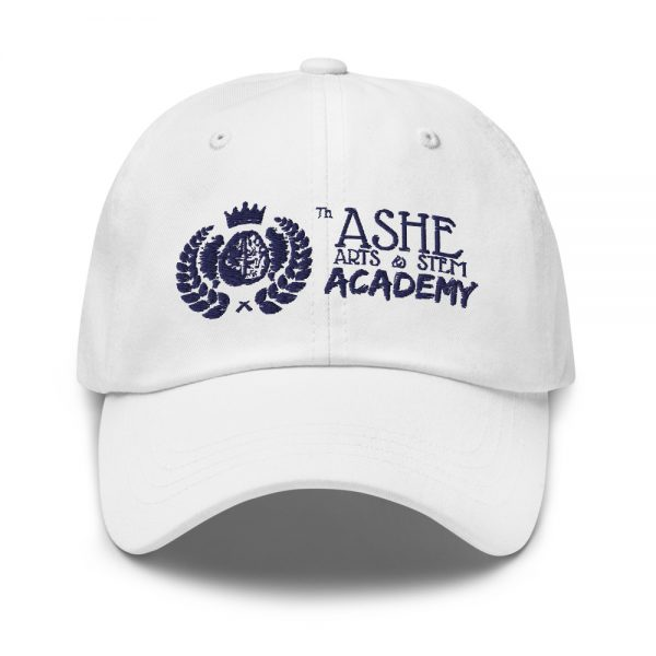 White Ballcap front view The Ashe Academy Store