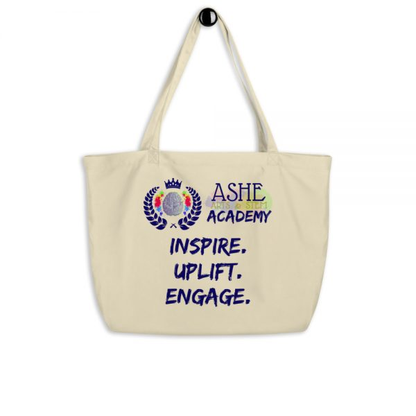 Tan Tote Bag hanging The Ashe Academy Store