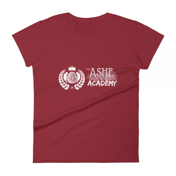 Women's Independence Red front view short sleeve Social Distancing T-Shirt The Ashe Academy Store