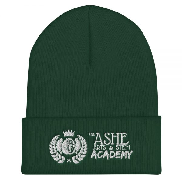 Spruce Beanie front view The Ashe Academy Store