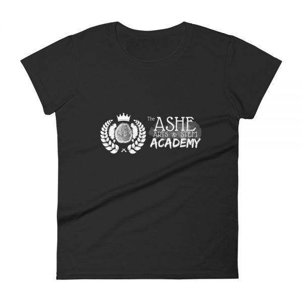 Women's Black front view short sleeve Social Distancing T-Shirt The Ashe Academy Store