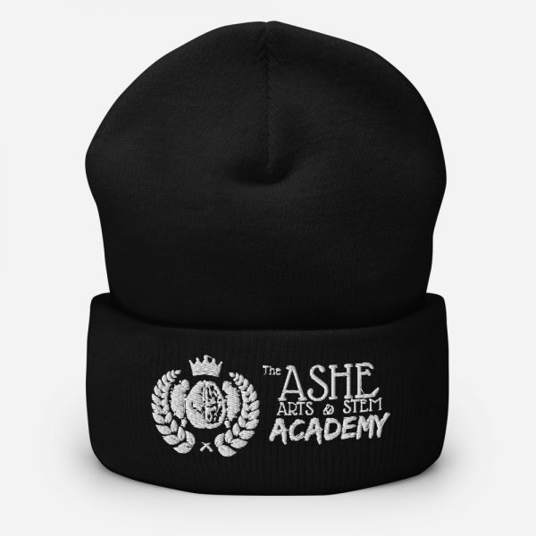 Black Beanie sitting up The Ashe Academy Store