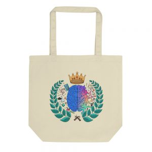Tan Tote Bag Spring Collection Harmony logo front view The Ashe Academy Store
