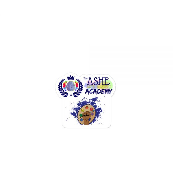 3x3 Spring Collection Arts & STEM Pallet Sticker with The Ashe Academy logo The Ashe Academy Store