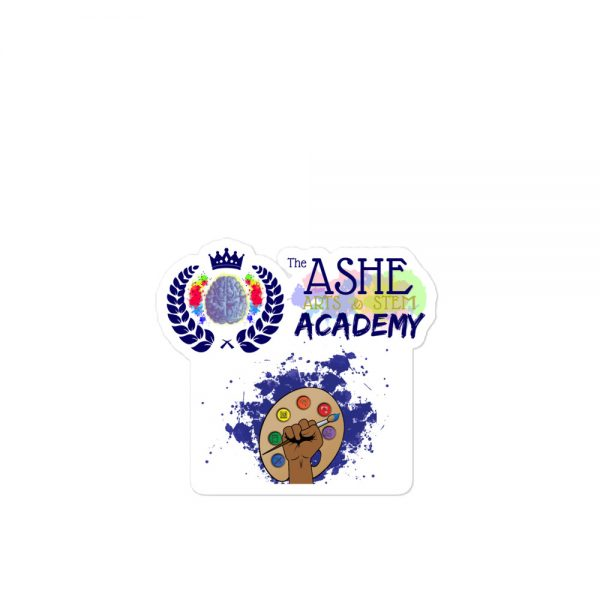 4x4 Spring Collection Arts & STEM Pallet Sticker with The Ashe Academy logo The Ashe Academy Store