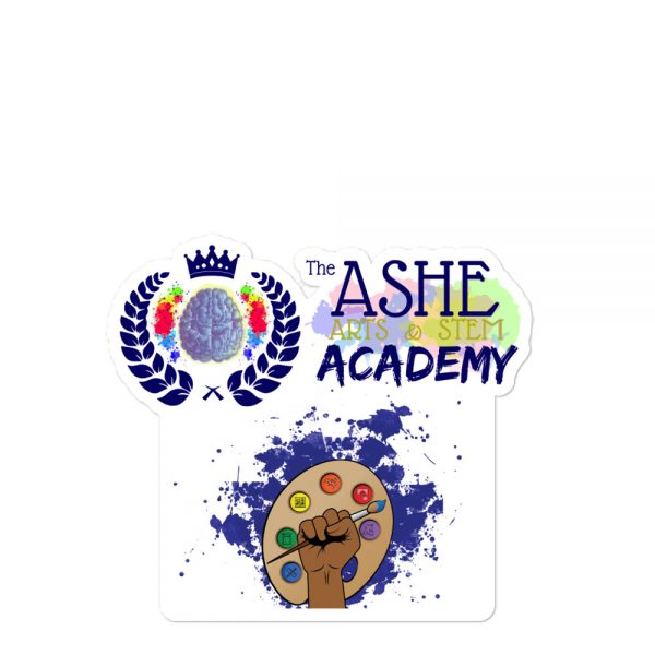 5.5x5.5 Spring Collection Arts & STEM Pallet Sticker with The Ashe Academy logo The Ashe Academy Store