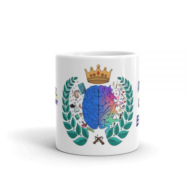 11oz Spring Collection Harmony Mug with the Inspire. Uplift. Engage. tagline center viewpoint The Ashe Academy Store