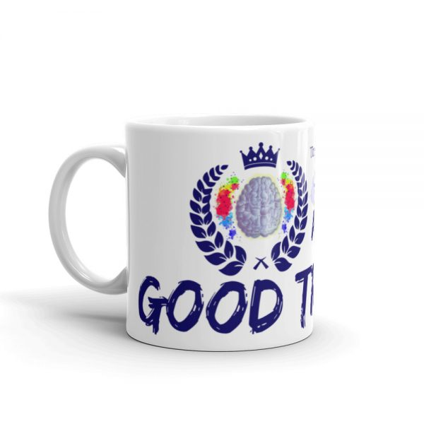 11oz Good Trouble Mug with The Ashe Academy logo and handle on the left The Ashe Academy Store