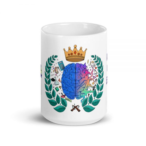 15oz Spring Collection Harmony Mug with the Inspire. Uplift. Engage. tagline center viewpoint The Ashe Academy Store